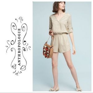 Anthropologie Cloth and Stone Dahl romper